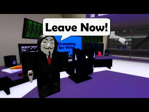 Scary HACKER tried warning me in Roblox BrookHaven