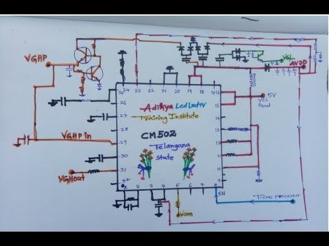Led tv panel cm502 ic DC to DC explain and tips by sadanandam