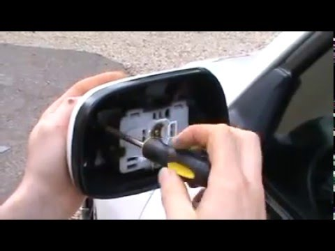 mirror cover removing - YouTube