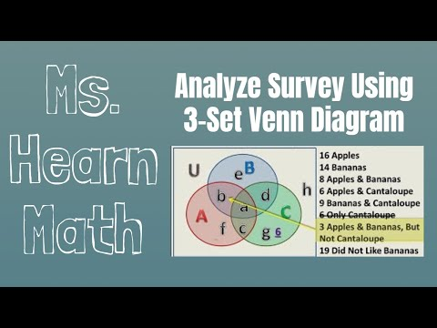 Survey Question With Venn Diagram Of 3 Sets Youtube