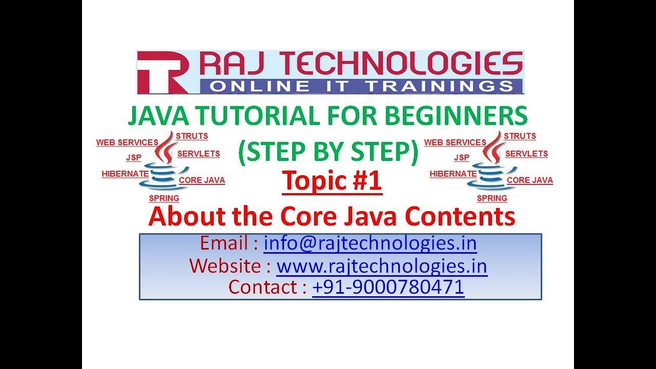 Java tutorial for Beginners 1|About the Core Java Contents
