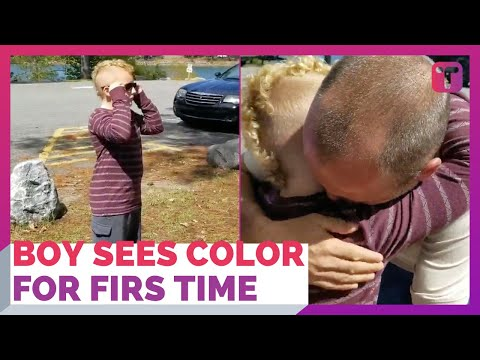 Kid Breaks Down When He Sees Color Correctly For First Time