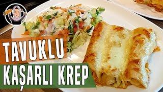 Tavuklu Kaşarlı Krep Sarma Tarifi-Ara sicak olarak yemeklerinize yapabilirsiniz-Hatice Mazi