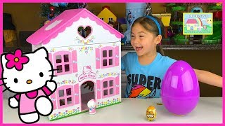 Video Big Purple Egg Surprises Golden Kinder Surprise Egg Toys HELLO KITTY DOLL HOUSE PLAYSET Frozen Anna download MP3, 3GP, MP4, WEBM, AVI, FLV November 2017