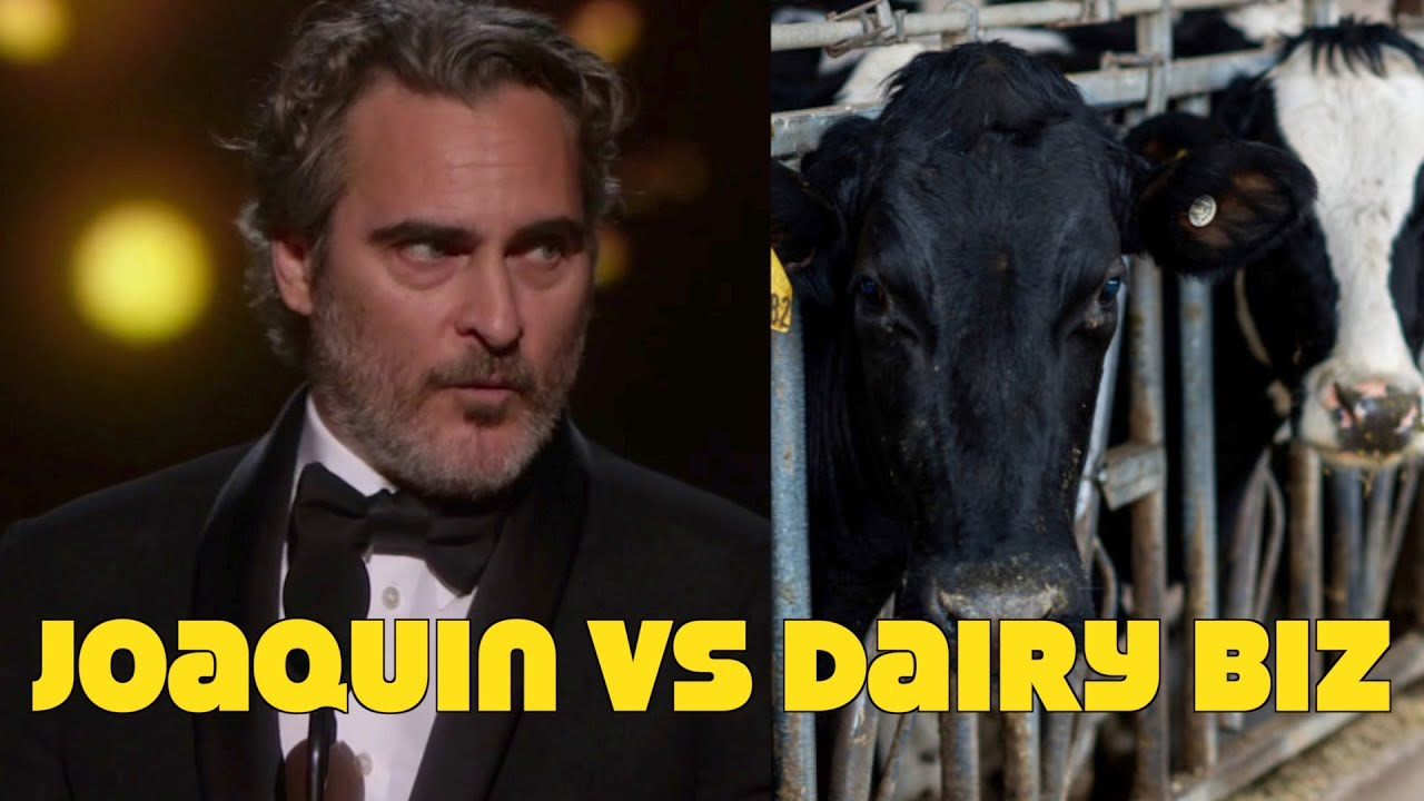 Joaquin Phoenix Targeted By Dairy Biz! Upset Over Pro Vegan Oscar Speech