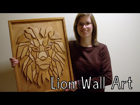 How To Make Geometric Lion Wall Art Out Of Wood - Wooden Creations