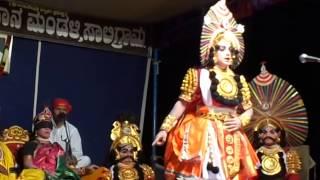 Yakshagana saligrama mela... chandrahas gowda as vikarna , Rajesh bhandari as karna
