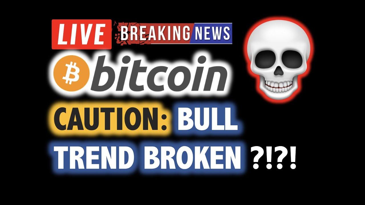 BITCOIN Bull Trend BROKEN ?! DUMP TO $8K ?!❗️LIVE Crypto Analysis TA & BTC Cryptocurrency Price