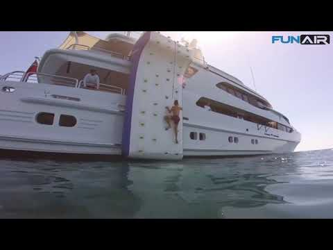 Slide, pool and golf rental: Various inflatable yacht toys