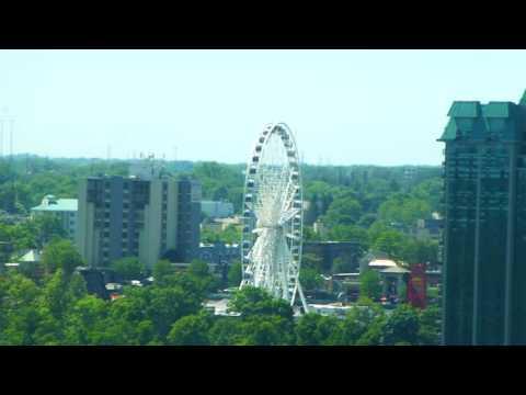 Viewing Niagara Falls from our hotel (Seneca Niagara Casino & Hotel)