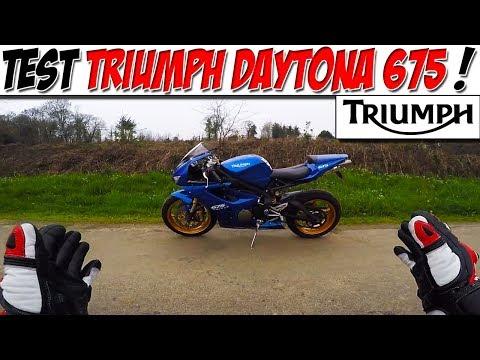 #Moto Vlog  : TEST TRIUMPH DAYTONA  /  CE SON ! 😍