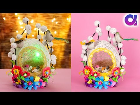 Best out of waste wool and bangle craft | DIY bird nest | Artkala