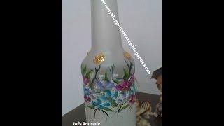 Como fazer fundo perolado em vidro – Background pearlescent in glass por Inês Andrade