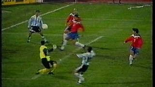 Chile vs Argentina eliminatorias Francia 98 y Corea Japon 2002