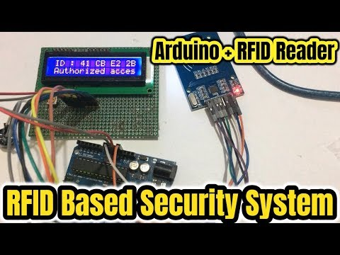 RFID-RC522 based Security System by Arduino with Lcd display