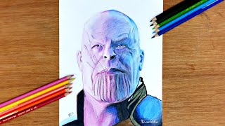 Drawing Thanos  Avengers Infinity War/ Colour pencil drawing