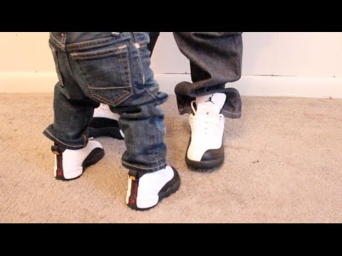 fee2bc0075cd Little Kick Game Kids Jordan Retro 12 On Feet Review - YouTube