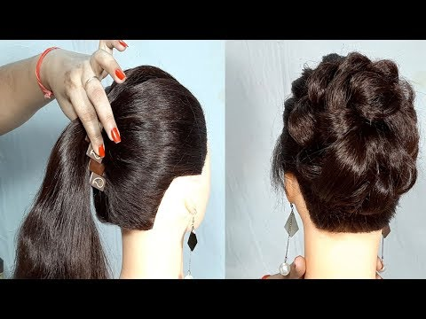 new-simple-hairstyle-using-banana-clutcher-|-messy-bun-hairstyle-with-trick-|-easy-hairstyles