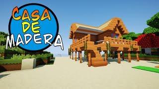 COMO HACER UNA CASA DE MADERA - Construccion En Minecraft
