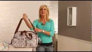 Bumble Collection Erica Carryall Diaper Bag Starry Sky - Product Review Video