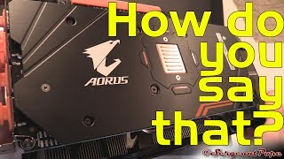 Gigabyte Aorus Radeon RX 580 graphics card unboxing