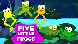 пять маленьких лягушек | детские стишки | песни для детей | Five Little Frogs | Rhyme Songs