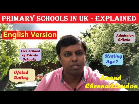 Primary Schools In UK Explained   English Version   Anand Chennai2London