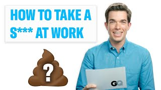 Need to Take a S*** at Work? Comedian John Mulaney Explains How – GQ Celebrity Life Advice