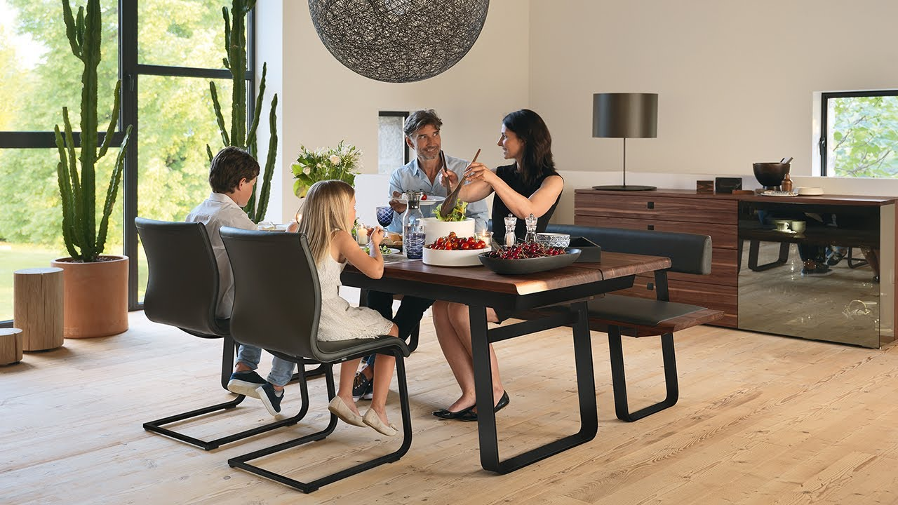 team 7 nox diningroom magnum cantilever chair youtube. Black Bedroom Furniture Sets. Home Design Ideas