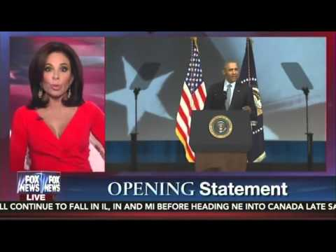 Judge Jeanine Rips Obama: 'His Sarcasm Is Dripping, He Mocks Us, He Talks Down to Us'