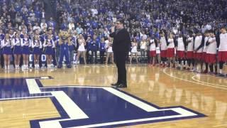 Jordan Smith sings the national anthem in Rupp Arena.