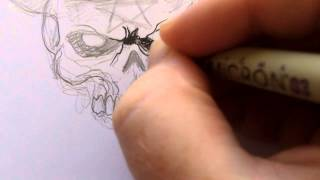 How To Draw A Voodoo Skull
