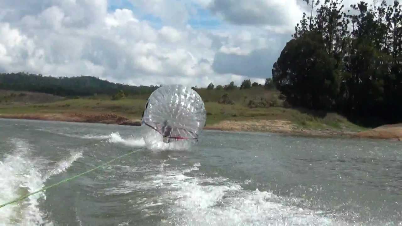Zorb Ball Behind Speedboat Youtube