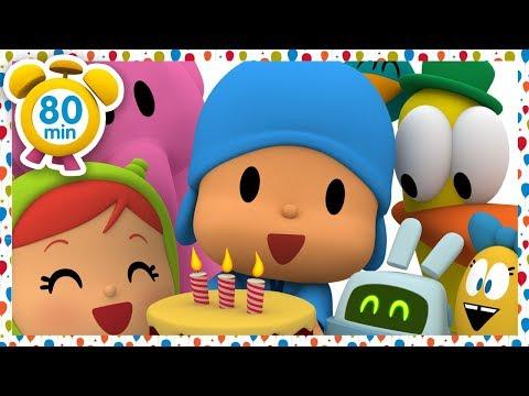 🎂 POCOYO In ENGLISH - Pocoyo's Birthday [ 80 Minutes ] | CARTOONS For Children