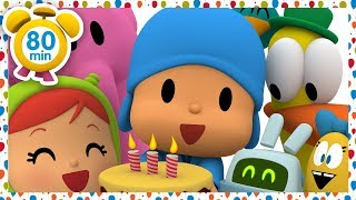 🎂 POCOYO in ENGLISH - Pocoyo's Birthday [ 80 minutes ]   CARTOONS for Children