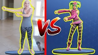 FORTNITE DANCE CHALLENGE IN REAL LIFE! NICOLE SKYES