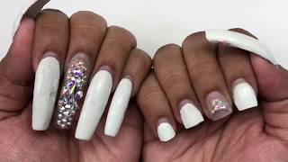 Watch Me Do My Long Nails  Non-Dominate Hand