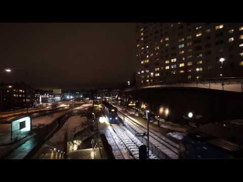 Sweden, Stockholm, Solna Tram Station, S.M.W. elevators - going down