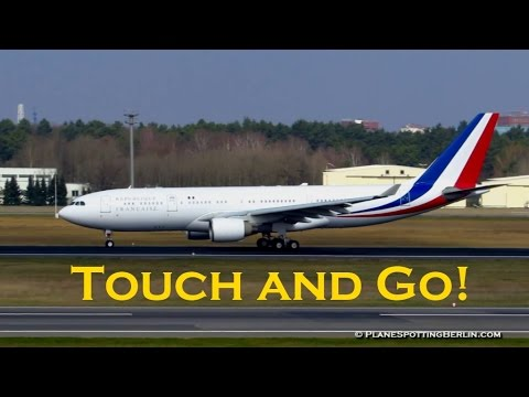 UNEXPECTED TOUCH and GO by French Government Airbus A330 at Berlin Tegel Airport [Full HD]