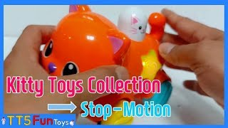 Learn Colors with Various Kitty Toys Collection & Learn Stop Motion Animation(다양한 고양이 장난감 스톱모션)