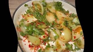 Зеленые помидоры по армянски на зиму
