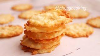 BÁNH DỪA NƯỚNG Giòn Tan Thơm Ngon / COCONUT COOKIES | Nhung Cooking