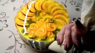 видео как приготовить фрукты в желе