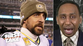 Stephen A. puts Aaron Rodgers' 'down year' into perspective | First Take