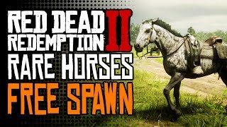 FREE **RARE** Horses SECRET SPAWN LOCATION | Red Dead Redemption 2 How To Get Rare Horses for FREE!