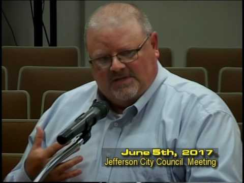 Jefferson City Council Meeting June 5th 2017