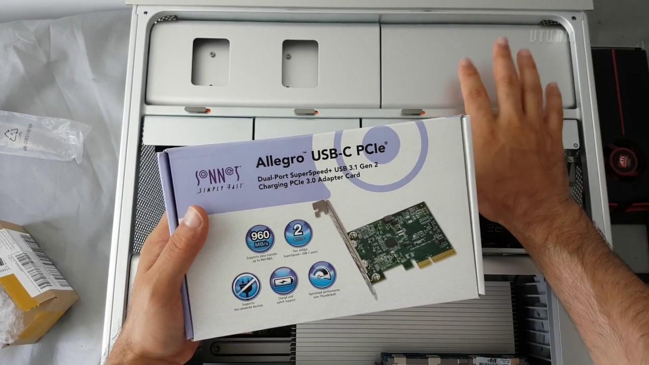USB3C-2PM-E Sonnet Allegro USB 3.2 Two-Port USB-C 10Gb PCIe Card