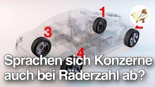Sprachen sich Autokonzerne auch bei Zahl der Räder ab?