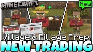 Minecraft NEW VILLAGER TRADING 101[ VILLAGE & PILLAGE PREP ] MCPE / Xbox / Bedrock / Java / Switch Vloggest