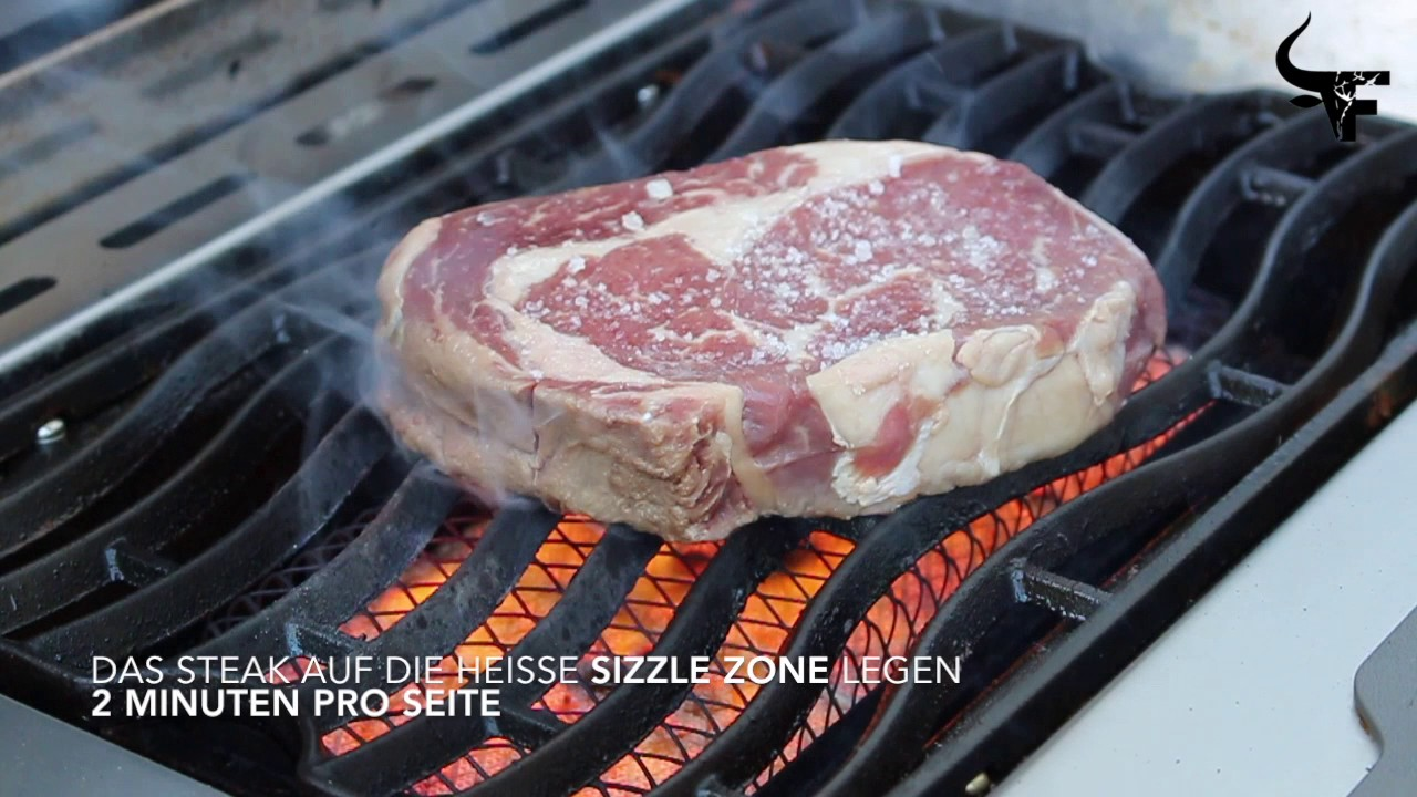 Rösle Gasgrill Prime Zone : Steak auf der sizzle zone youtube